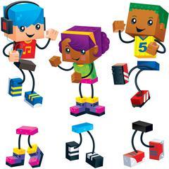 "Trend Blockstar Classic Accent Set - Fun Theme/Subject - 18 (Children) Shape - Precut, Durable, Reusable - 5.50"" Height - Multicolor - 48 / Pack"