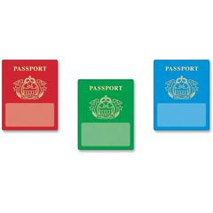 "Trend Passport Classic Accents - Learning, Fun Theme/Subject - 36 (Passport) Shape - Precut, Durable, Reusable - 6"" Height - Multicolor - 36 / Pack"