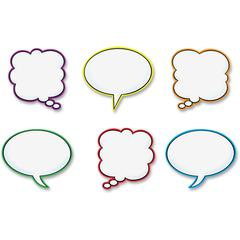 "Trend Speech Balloons Classic Accents Set - 36 (Balloon) Shape - Precut, Durable, Reusable - 6"" Height - Multicolor - 36 / Pack"