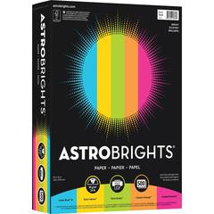 "Colored Paper - Letter - 8.50"" x 11"" - 24 lb Basis Weight - 0% Recycled Content - Smooth - 500 / Pack - Lunar Blue, Terra Green, Cosmic Orange, Solar Yellow, Fireball Fuschia"