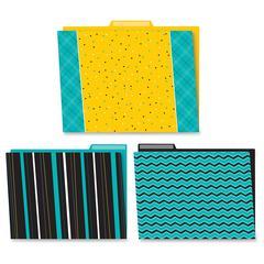 Carson-Dellosa Black/White/Bold File Folders Set - Multi-colored - 6 / Pack