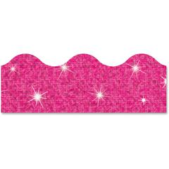 "Trend Sparkle Terrific Trimmers - Sparkle - Durable, Reusable - 2.25"" Height x 390"" Width - Hot Pink - 1 Pack"