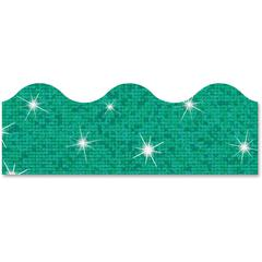 "Trend Sparkle Terrific Trimmers - Sparkle - Durable, Reusable - 2.25"" Height x 390"" Width - Teal - 1 Pack"