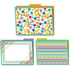Carson-Dellosa Color Me Bright Design File Folders Set - Multi-colored - 6 / Pack