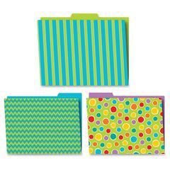 Carson-Dellosa Fresh Sorbet Design File Folders Set - Multi-colored - 6 / Pack
