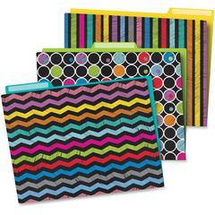 Carson-Dellosa Colorful Chalkboard File Folders Set - Multi-colored - 6 / Pack