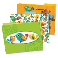 Carson-Dellosa Boho Birds File Folders Set - Multi-colored - 6 / Pack