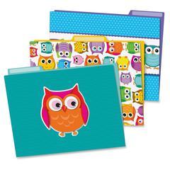 Carson-Dellosa Colorful Owls File Folders Set - Multi-colored - 6 / Pack