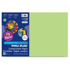 """Tru-Ray Construction Paper - 18"""" x 12"""" - 25 / Pack - Chartreuse - Sulphite"""