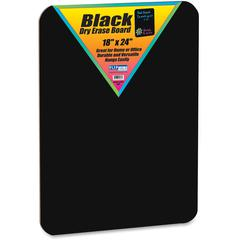 "Flipside Black Dry Erase Board - 18"" (1.5 ft) Width x 24"" (2 ft) Height - Black Surface - Rectangle - 1 Each"