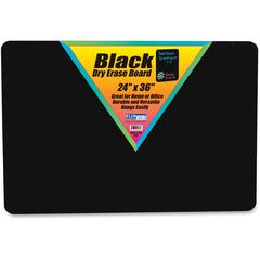 "Flipside Black Dry Erase Board - 24"" (2 ft) Width x 36"" (3 ft) Height - Black Surface - Rectangle - 1 Each"