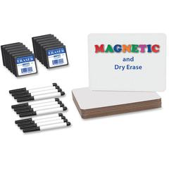 "Flipside Magnetic Dry Erase Brd Set Class Pk - 9"" (0.8 ft) Width x 12"" (1 ft) Height - White Surface - Rectangle - 12 / Pack"