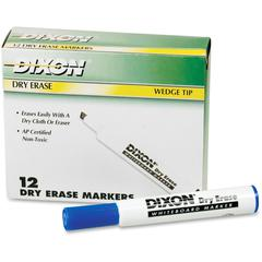 Dry Erase Whiteboard Markers - Broad, Fine Point Type - Wedge Point Style - Blue - 1 Dozen