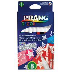 Decor Magic Erasable Markers - Assorted Water Based Ink - 8 / Set