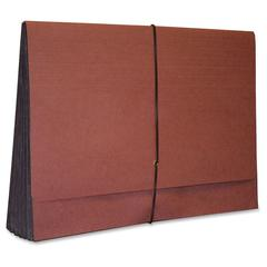 """Kleer-Fax 3-1/2"""" Expanding Redrope Wallet - Legal - 8 1/2"""" x 14"""" Sheet Size - 3 1/2"""" Expansion - Redrope - Recycled - 1 Each"""