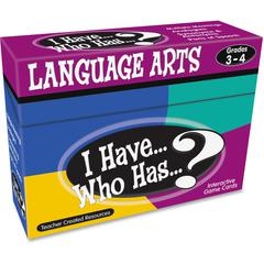Teacher Created Resources Gr 3-4 I Have Lang. Arts Game - Educational