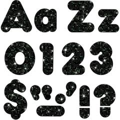 """Trend Sparkle 4"""" Casual Ready Letters Combo Pack - Learning Theme/Subject - 50, 82, 20, 30 (Uppercase Letters, Lowercase Letters, Numbers, Punctuation Marks) Shape - Sparkle - Reusable, Easy to Use, F"""