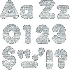 "Trend Sparkle 4"" Casual Ready Letters Combo Pack - Learning Theme/Subject - 50, 82, 20, 30 (Uppercase Letters, Lowercase Letters, Numbers, Punctuation Marks) Shape - Sparkle - Reusable, Easy to Use, F"