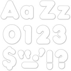 """Trend White 4"""" Casual Ready Letters Combo Pack - Learning Theme/Subject - 50, 82, 20, 30 (Uppercase Letters, Lowercase Letters, Numbers, Punctuation Marks) Shape - Reusable, Easy to Use, Fade Resistan"""