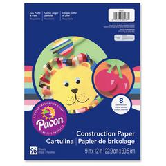 "Pacon Lightweight Construction Paper - 12"" x 9"" - 96 / Pack - Assorted"