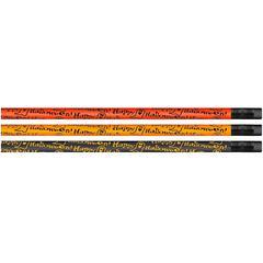 Moon Products Happy Halloween Themed Pencils - #2 Lead - Orange, Black Barrel - 1 Dozen