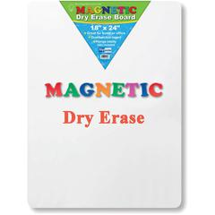 "Flipside Magnetic Dry Erase Board - 18"" (1.5 ft) Width x 24"" (2 ft) Height - White Surface - Rectangle - 1 Each"