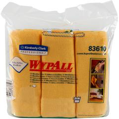 "Wypall Microfiber Cloths - Cloth - 15.75"" Width x 15.75"" Length - 6 / Carton - Yellow"
