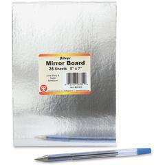"Hygloss Mirror Board - 5"" x 7"" - 25 / Pack - Silver"