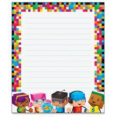 "Trend BlockStars Rectangle Notepad - 50 Sheets - 6 1/2"" x 7 3/4"" - Multicolor Paper - 50 / Pad"