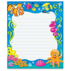 """Trend Sea Buddies Rectangle Notepad - 50 Sheets - 6 1/2"""" x 7 3/4"""" - Multicolor Paper - 50 / Pad"""