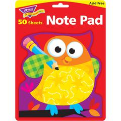 "Owl-Stars Shaped Note Pads - 50 Sheets - Printed - 5"" x 5"" - Multicolor Paper - 50 / Pad"