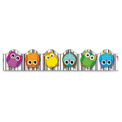 "Carson-Dellosa Colorful Owls Scalloped Borders - Learning Theme/Subject - 13 (Owl, Scalloped Border) Shape - 36"" Height x 2.25"" Width - Multicolor - 13 / Pack"