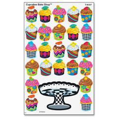 Trend Colored Cupcake Bakeshop Stickers - (Cupcake) Shape - Self-adhesive - Acid-free, Fade Resistant, Non-toxic, Photo-safe - Multicolor - 200 / Pack