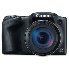 "Canon PowerShot SX420 IS 20 Megapixel Compact Camera - Black - 3"" LCD - 16:9 - 42x Optical Zoom - 4x - Optical (IS) - TTL - 5152 x 3864 Image - 1280 x 720 Video - PictBridge - HD Movie Mode - Wireless"