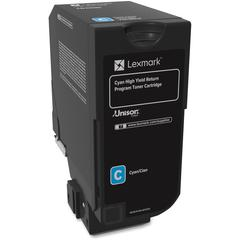 Lexmark Unison Original Toner Cartridge - Laser - High Yield - 12000 Pages - Cyan - 1 Each