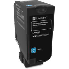 Lexmark Unison Original Toner Cartridge - Laser - Standard Yield - 7000 Pages - Cyan - 1 Each