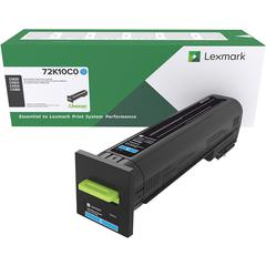 Lexmark Unison Original Toner Cartridge - Laser - Standard Yield - 8000 Pages - Cyan - 1 Each