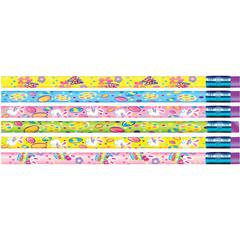 Moon Products Springtime Easter Design Pencils - #2 Lead - Assorted Wood Barrel - 1 Dozen