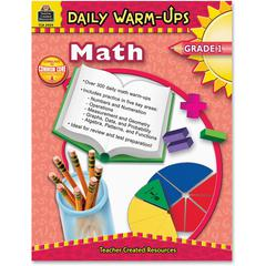 Teacher Created Resources Gr 1 Math Daily Warm-Ups Book Education Printed Book for Mathematics - Book - 176 Pages
