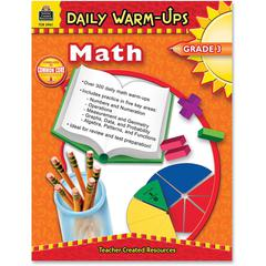 Daily Warm-Ups: Math, Grade 3 Education Printed Book for Mathematics - Book - 176 Pages