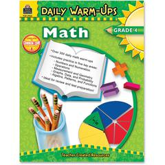 Teacher Created Resources Gr 4 Math Daily Warm-Ups Book Education Printed Book for Mathematics - Book - 176 Pages