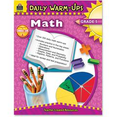 Teacher Created Resources Gr 5 Math Daily Warm-Ups Book Education Printed Book for Mathematics - Book - 176 Pages