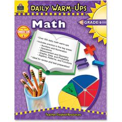 Daily Warm-Ups: Math, Grade 6 Education Printed Book for Mathematics - Book - 176 Pages