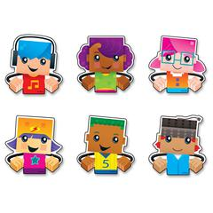 Trend BlockStars Clips Mini Accents Variety Pack - Fun Theme/Subject - Durable, Reusable, Precut - Assorted - 36 / Pack