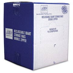 Webster Zipper Storage Bags - 1.75 mil (44 Micron) Thickness - Clear - Plastic - 500/Carton - Storage