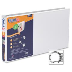 "Stride QuickFit Ledger Binder - 1"" Binder Capacity - Legal - 8 1/2"" x 14"" Sheet Size - 200 Sheet Capacity - Round Ring Fastener - 2 Internal Pocket(s) - Polypropylene, Board - White - Recycled - 1 Eac"
