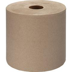 "Genuine Joe Embossed Hardwound Roll Towels - 7.88"" x 1000 ft - Kraft - Absorbent, Embossed, Designed - For Restroom - 6 / Carton"