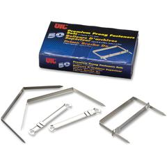 """OIC 2"""" Premium Prong Fasteners Set - 2"""" Size Capacity - for Paper, Document, File, Folder - Heavy Duty, Corrosion Resistant, Durable, Strong - 50 / Each - Silver - Steel, Steel"""