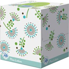 Puffs Plus Lotion Facial Tissues - 2 Ply - White - Soft, Strong - For Face, Skin, Multipurpose - 56 Sheets Per Box - 224 / Pack