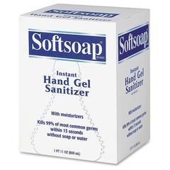 Hand Gel Sanitizer - 27.1 fl oz (800 mL) - Kill Germs - Hand - Multicolor - Anti-bacterial, Fragrance-free, Moisturizing - 12 / Carton
